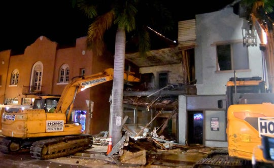 The City of Fort Myers hired Honc Destruction to raze the historic building at 2208 First Street in downtown Fort Myers on Oct. 1, 2019.