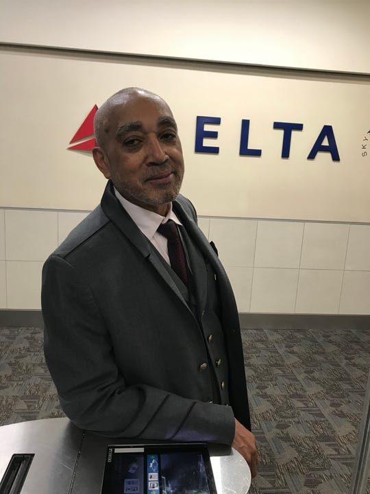 Dan Killins takes pride in being one of the first two black football players at Fort Myers High School. He now works for Delta Airlines in Atlanta.