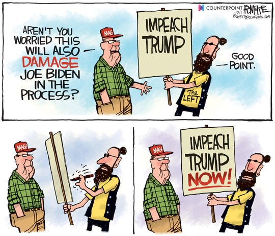 Impeaching Trump will hurt Biden too?