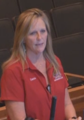 Dena Wenz , a neighbor of the Leetana development, fears buyers of the 201 homes to be built off Rich Road won't be compatible with the rural lifestyle of their Bayshore neighborhood.