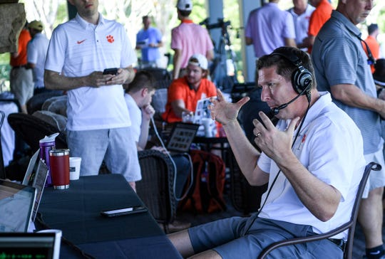 Clemson men's basketball Head Coach Brad Brownell during Clemson basketball coaches media golf outing at The Reserve in Sunset, S.C. Wednesday, October 2, 2019.