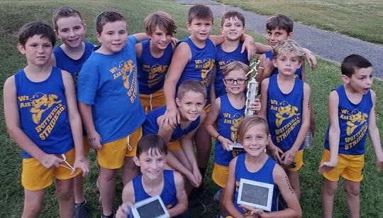 Spottsville Elementary won the boys 2K in the Junior College Cross Country Championships Sept. 24 at Municipal Golf Course