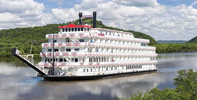 A riverboat called America -- which has never stopped in Henderson before -- will stop twice here in the coming days.