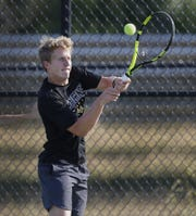 "Mt. Vernon boys tennis player Haiden Rose says the football field conditioning paid off. ""If you look at  us play other people, we last longer than them conditioning-wise for sure."""