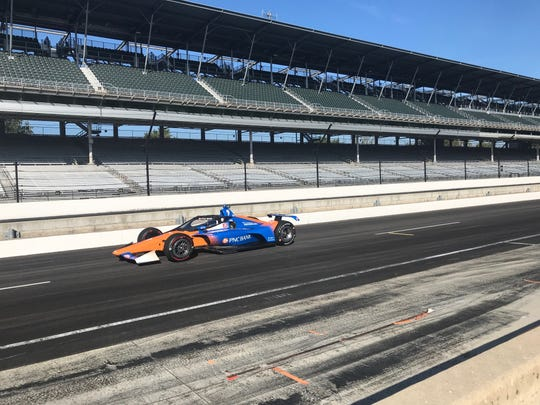 Scott Dixon and Will Power were on hand at IMS Wednesday for the first of four rounds of testing on IndyCar's new aeroscreen safety device.