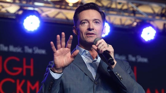 AUCKLAND, NEW ZEALAND - FEBRUARY 27: Actor Hugh Jackman performs with students from AUT's South Campus on February 27, 2019 in Auckland, New Zealand. Hugh Jackman has confirmed he is bringing his world tour, The Man. The Music. The Show, to Auckland's Spark Arena in September(Photo by Phil Walter/Getty Images)