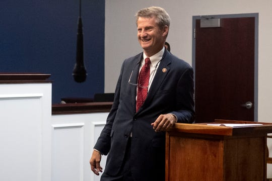 Rep. Tim Burchett meets with constituents during a town hall at the Grainger County Justice Center on Tuesday, October 1, 2019.