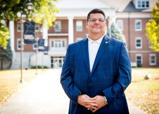 Carson-Newman University's new president Charles Fowler photographed on campus on Wednesday, October 2, 2019.