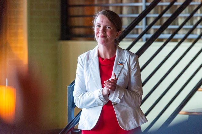 Lafayette mayor-president candidate Carlee Alm-LaBar, pictured Tuesday, Oct. 1, 2019, holds a dominant fundraising lead and stands as a powerful political force to beat for the office.