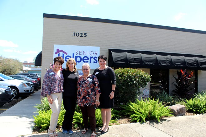 """Senior Helpers' Susan Amos J'annine Sullivan and Alzheimer's Services of Acadiana's Debra Savoie and Tasha Dugas are partnering to create the Alzheimer's """"team"""" for Acadiana residents."""