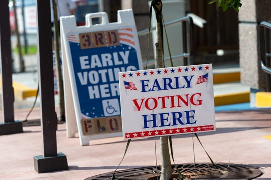 Early Voting at the Registrar of Voters office in Lafayette, LA.  Wednesday, Oct. 2, 2019.