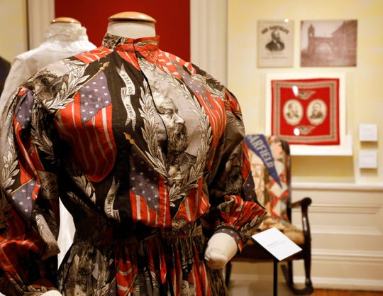 A dress made as a campaign piece for one of Rutherford B. Hayes' presidential campaigns is part of the Decorative Arts Center of Ohio's current exhibit The Ohio Presidents: Surprising Legacies.