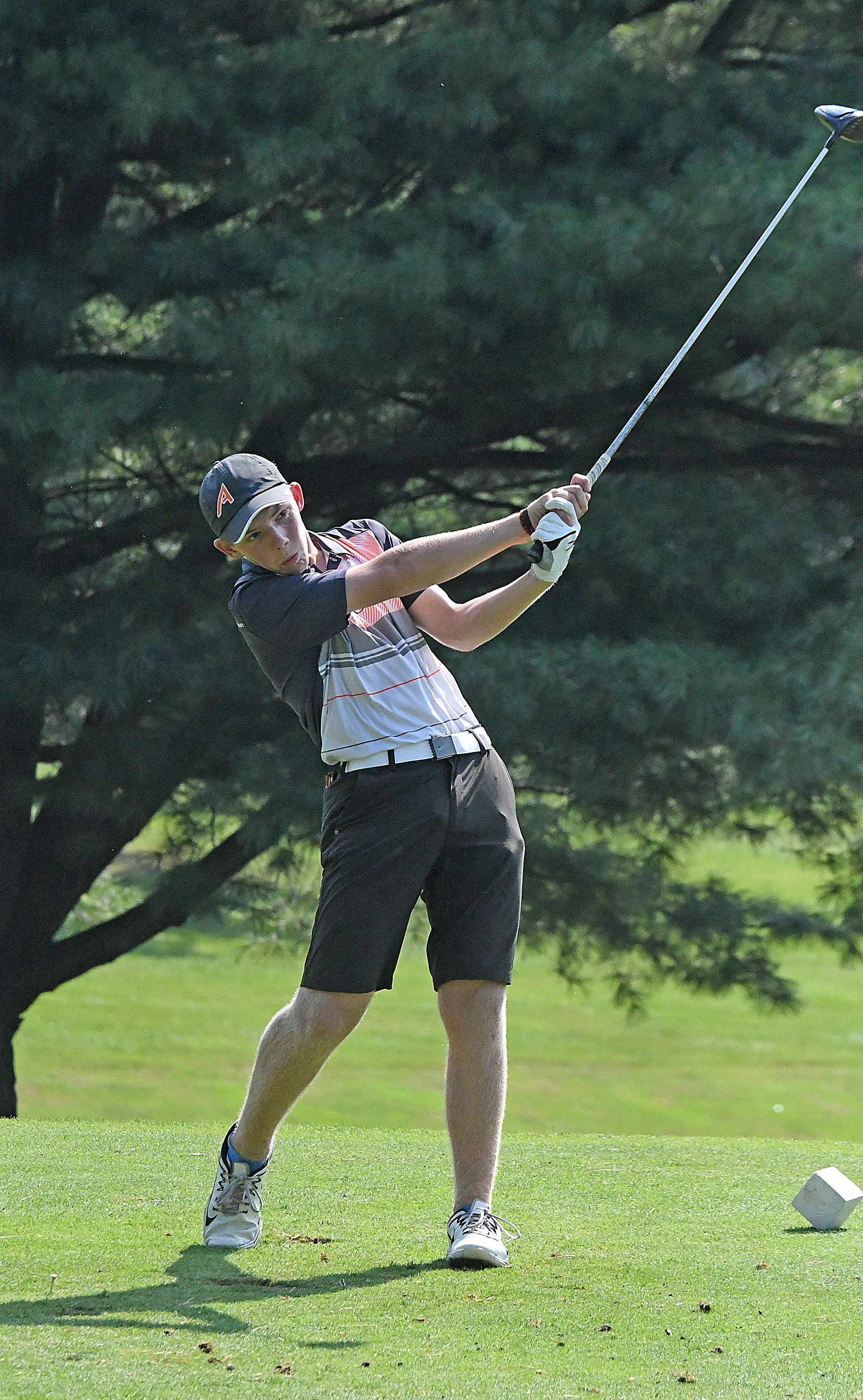 Ashland's Tyler Sabo, shown in this file photo, was co-medalist in Tuesday's Division I sectional golf tournament.