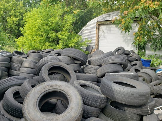 The state removed an estimated 1,400 used tires from a dump site behind 1179 N. Main St., Marion, within the last two months, according to Marion Public Health.