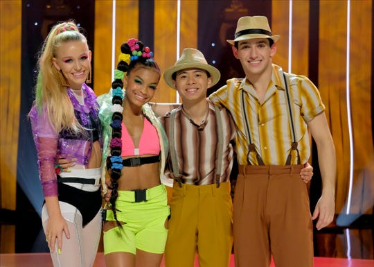 "The ""So You Think You Can Dance"" season 16 Top 4 contestants were, from left, Sophie Pittman, Mariah Russell, Bailey Munoz and Gino Cosculleuela."