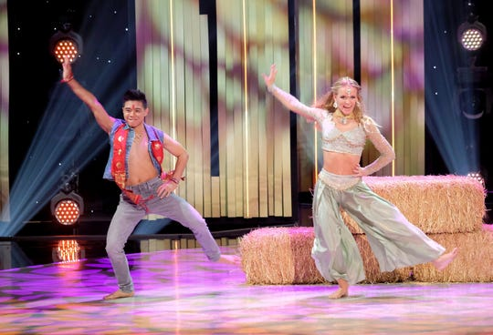 "Top 4 contestants Sophie Pittman and Bailey Munoz perform a Bollywood routine to ""Butterfly"" on ""So You Think You Can Dance."""