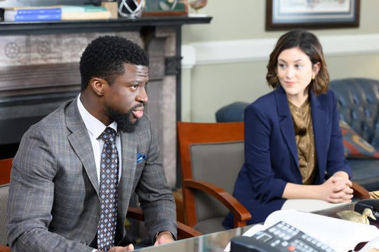 """25 Years to Life"" Episode 103: Michael Luwoye as Anthony Little and Caitlin McGee as Sydney Strait"