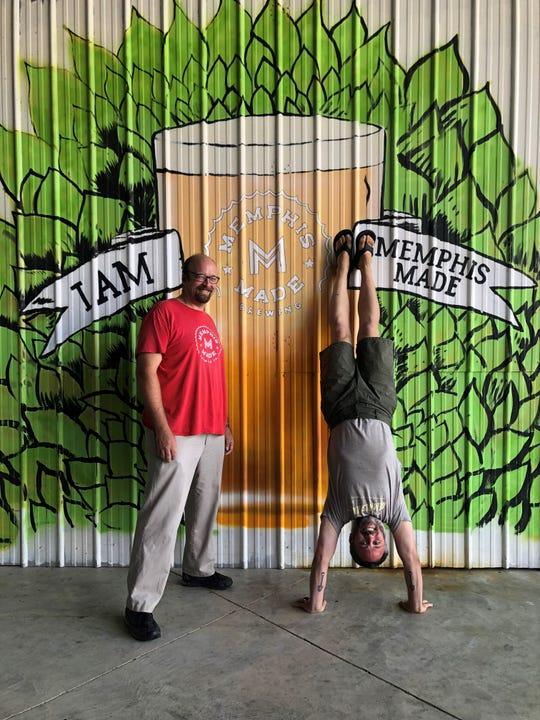 Memphis Made Brewing Co. founders Andy Ashby and Drew Barton. Memphis Made plans to open a second location at 435 Madison Ave.