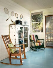 A sun porch provides a spot for relaxation at Camp Wandawega near Elkhorn.