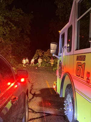 Crew members from the Western Lakes Fire District responded to 40 separate events on Oct. 1 after a storm went through southern Waukesha County.