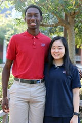 Montgomery Academy students Femi Adediji and Kelly Yoon qualified as National Merit Semifinalists.