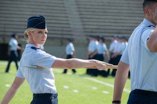 A newly commissioned officer a part of the Air Force's Officer Training School class 19-07 participates in the graduation ceremony Sept. 27, 2019, in Montgomery, Alabama.