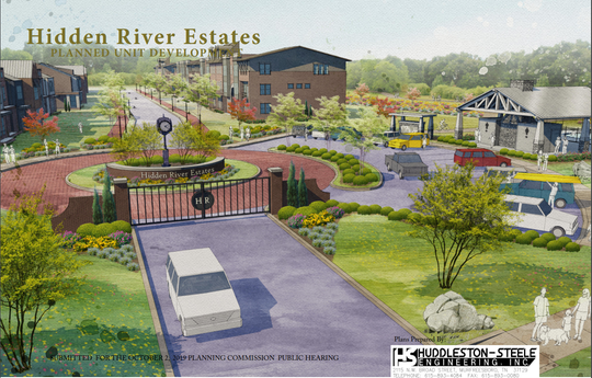 The Hidden River Estates plan shows maps and renderings for a subdivision with 620 units near the greenway.