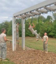 Fairview JROTC Raiders making it look easy at the Warren Co. Raider Meet on Sept. 28, 2019.