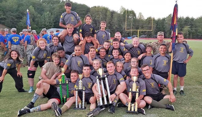 Fairview's JROTC Raider teams after the TN State Raider Championships at Soddy Daisy High School on Sept. 21, 2019.