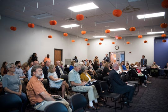 Attendees listen at a public hearing about block grant funding for TennCare at the Burlington branch library Wednesday, Oct. 2, 2019. If Tennessee successfully negotiates with the federal government an overhaul of its Medicaid program to receive funding through a block grant, it could become the first state in the nation to do so.