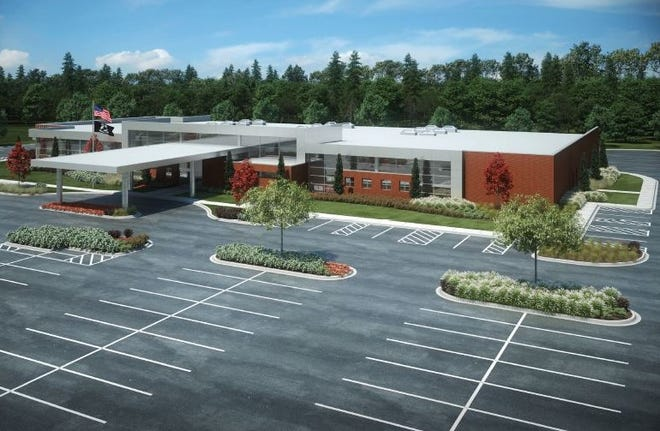 A rendering of the planned Veterans Administration clinic coming to the border of Canton and Westland.