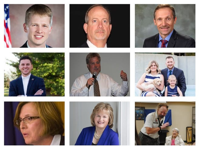 The eight candidates who will appear on the November ballot are Scott Bahr, Greg Coppola, Jim Davis, Rob Donovic, Brian Duggan, Brandon McCullough, Eileen McDonnell and Kathleen McIntyre. Candidate Leo Weber is running as a write-in.