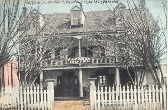The old Lacome Hotel as it appear in the early 1900s.