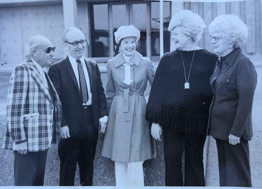 From left: Composer Ernst Krenek, Dr. John Norman, Virginia Waring, Johanna Hodges and her mother, Marjorie Hodges