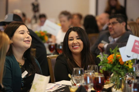 Attendees smile during the La Quinta State of the City and Business Awards luncheon at Embassy Suite in La Quinta, Calif., on Wednesday, October 2, 2019.