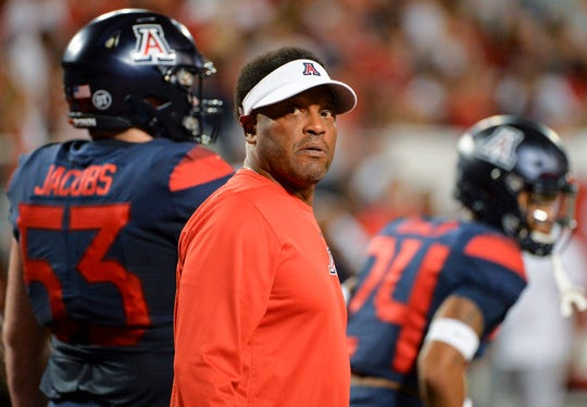 Arizona Wildcats head coach Kevin Sumlin's team would be 2-0 in the Pac-12 with a win over Colorado on Saturday.