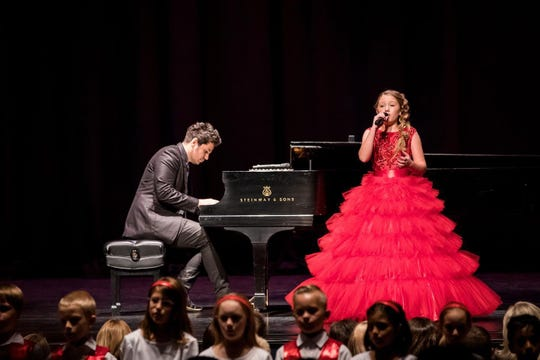 """Rosevelt Rawls performs with pianist William Joseph at """"The Music and the Message"""" event to benefit child abuse prevention efforts at Mesa Arts Center on Sept. 28, 2019."""