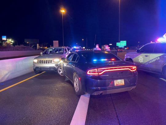 A wrong-way driver was stopped by troopers on Interstate 17 in Phoenix.
