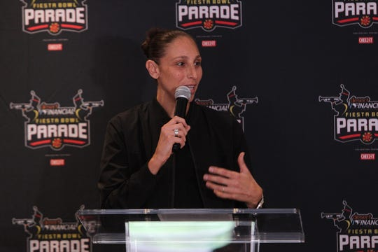 Phoenix Mercury guard Diana Taurasi will be one of five Grand Marshals at the 2019 Fiesta Bowl Parade.