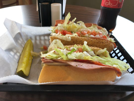 This is a No. 4, aka the Spicy Italian, at the new Biaggio's hoagie shop along Route 422 in Lebanon.