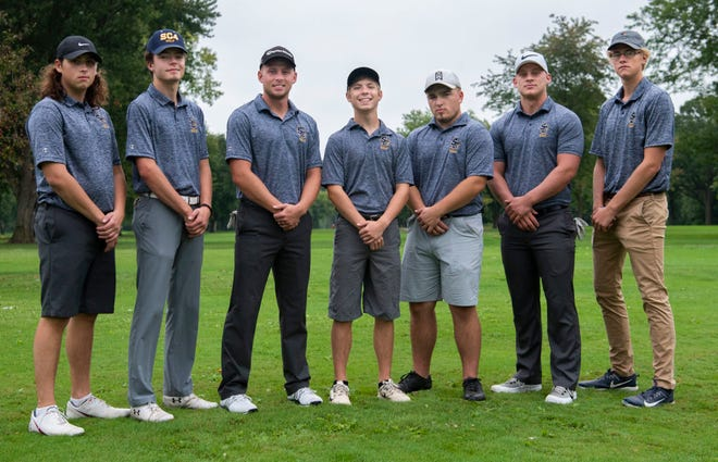 The St. Clair County Community College men's golf team of Cameron Sanders, Evan DeBruyne, Josh McClelland, Jack DeMara, Ian Conley, Stephen McClelland and Connor Mahn have improved in each match this fall.