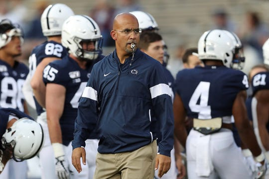Penn State's James Franklin, seen above in a file photo, says his goal to become the first African-American head coach to win a national title is important to him.