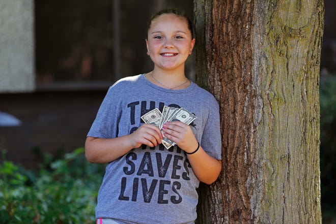 Ashton Brandt has donated to St. Jude's Children Research Hospital each year since she was 4. This year, she has raised more than $1,600.
