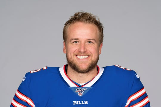 This is a 2019 photo of Matt Barkley of the Buffalo Bills NFL football team. This image reflects the Buffalo Bills active roster as of Wednesday, May 8, 2019 when this image was taken. (AP Photo)