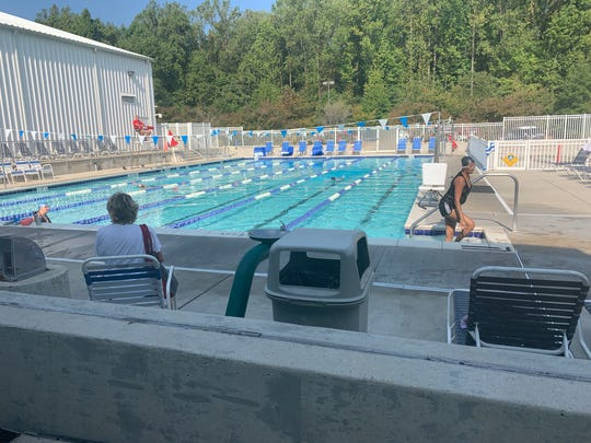 Swimmers take advantage of an emptier pool in Annapolis on a hotter mid-morning than usual for Oct.1. The Greater Annapolis YMCA in Arnold keeps its pool open until mid-October.