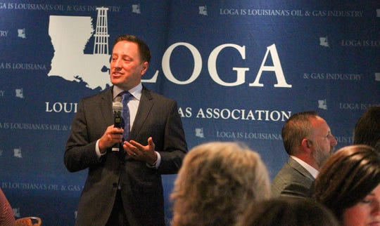 Gifford Briggs, president of the Louisiana Oil & Gas Association, speaks during a presentation on Wednesday, Oct. 2, 2019, at the Petroleum Club of Shreveport.