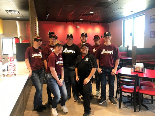 Employees at the newly opened Johnny's Pizza on Southern Loop in Shreveport.