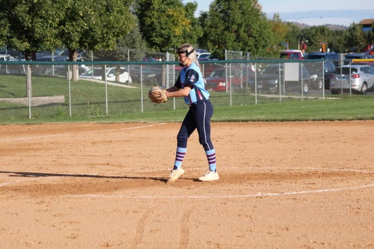 Lincoln pitcher Abbie Klatt