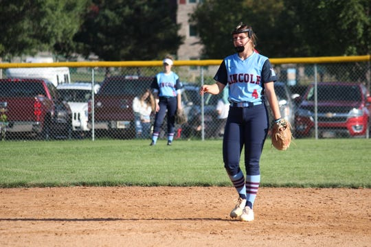 Lincoln shortstop Emma Osmundson