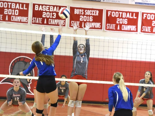 Fort Defiance's Kierstin Garber had 16 kills in the Indians' win at Riverheads Tuesday.
